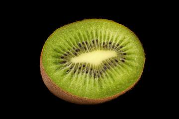Kiwi part on black