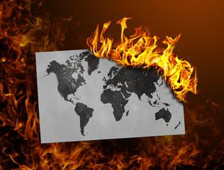 Flag burning - world map
