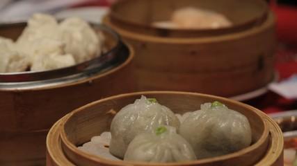 Close up of dim sum in Chinese restaurant