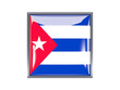 Square icon with flag of cuba