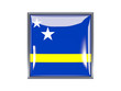 Square icon with flag of curacao