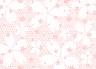 桜 ドット背景