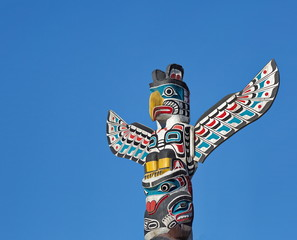 Totem Pole in Stanley Park Vancouver British Columbia