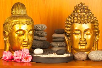 bouddahs zen, galets, yin yang