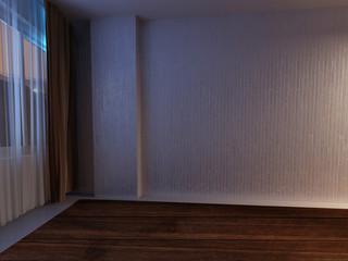 empty room in dark colors