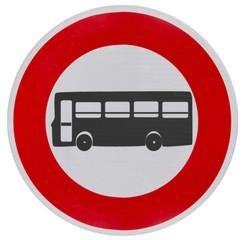 panneau accès interdit aux transports en commun