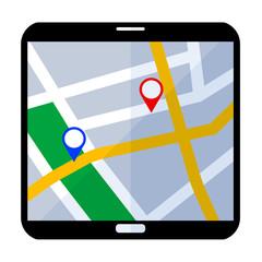 Icono smartphone mapa