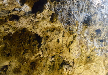 rock wall in the cave