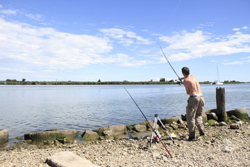 pescatore al lancio