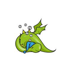 Cute little dragon sleeping