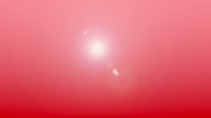 Red abstract background animation with lens flare