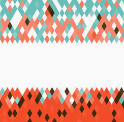 Colorful rhombus geometric pattern
