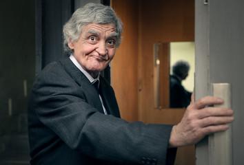 Elderly businessman