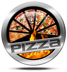 Pizza - Metal Icon