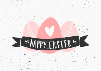 Hand Drawn Easter Greeting Card Template