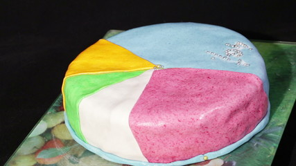 Multi-colored cake