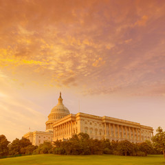 Capitol building Washington DC sunset US congress