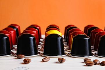 Set of espresso coffee capsules for machine
