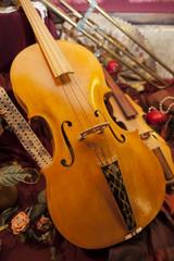 Particolare di antico violino