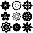 Group of floral templates