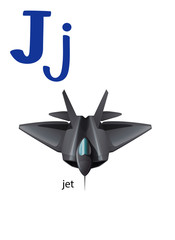 Letter J for jet