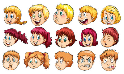 Group of human heads