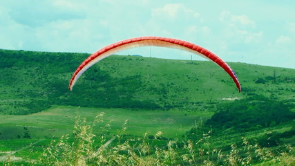 Paraglider Soaring In the Sky
