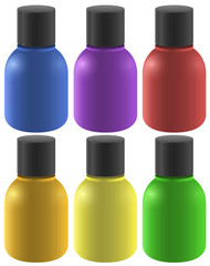 Colourful ink bottles