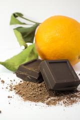sfondo cioccolato con arancia