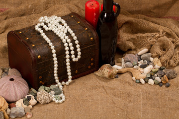 sea pearls and stones