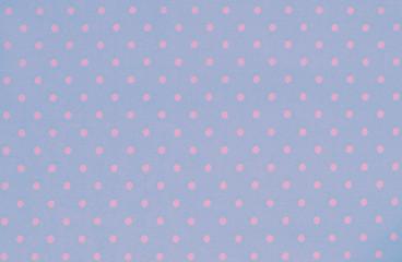 Blue polka dot fabric