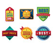 Vector sale labels and ribbons set design elements Premium