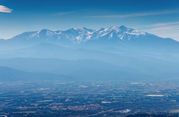 Mont Canigou vu de Força Réal,Pyrénées-Orientales.