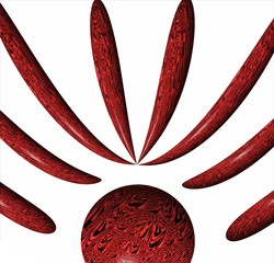 frecce rosse su sfondo bianco