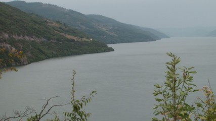 Banks of Large Danube River