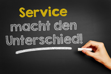 Service macht den Unterschied!