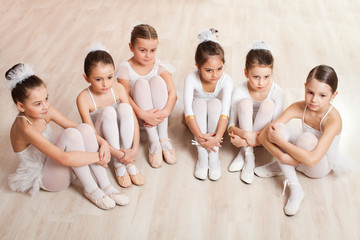 Group of six little ballerinas