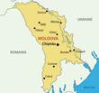 Republic of Moldova - vector map