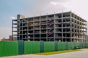 Building construction copyspace on the sky