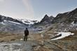 A lone hiker - Vanoise ( France ).