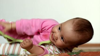 Cheerful Baby Twisting