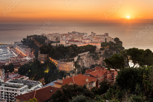 Monaco Monte Carlo south of France, rock symbol the city