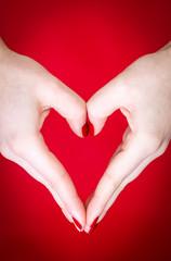 Hands heart shape