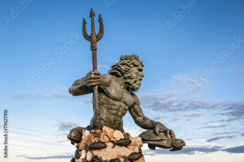 Tuinposter Standbeeld King Neptune Statue at Virginia Beach