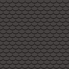 Beaver tail tile, black - seamless tileable