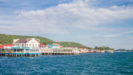 Village on the Koh Larn Island on December 6, 2014 in PattayaTha