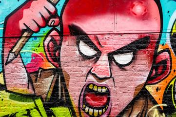 Angry man graffiti art