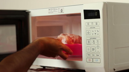 Defrosting Meat on Microwave