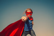 Child superhero portrait - 79630346