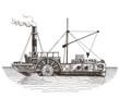 ship vector logo design template. steamboat or steamship icon. - 79631347